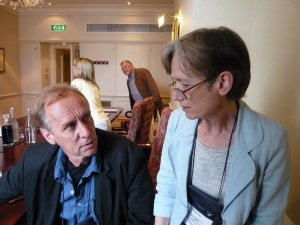 This is a 'photo of Maxine Clarke and Håkan Nesser
